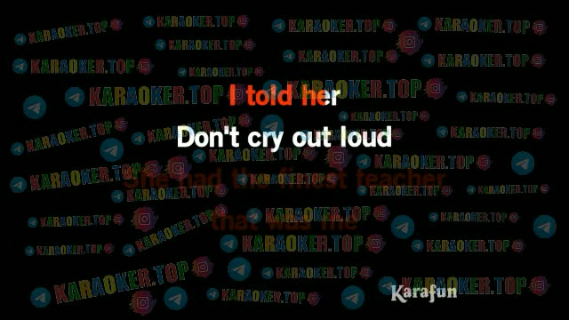 Melissa Manchester - Don't Cry Out Loud Karaoke